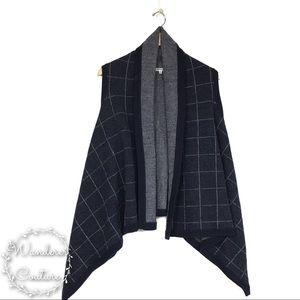 Madewell Merino Wool Drapey Oversized Sweater Vest